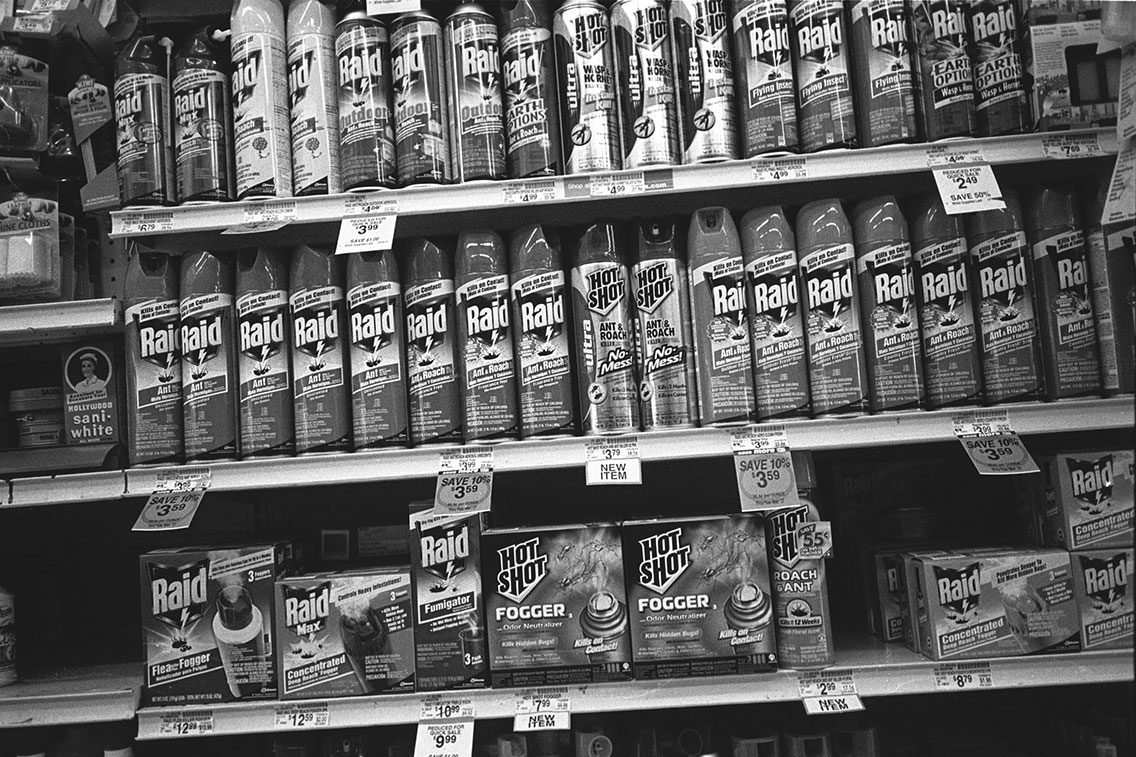 Cans of Raid at Vons, Echo Park, 2007