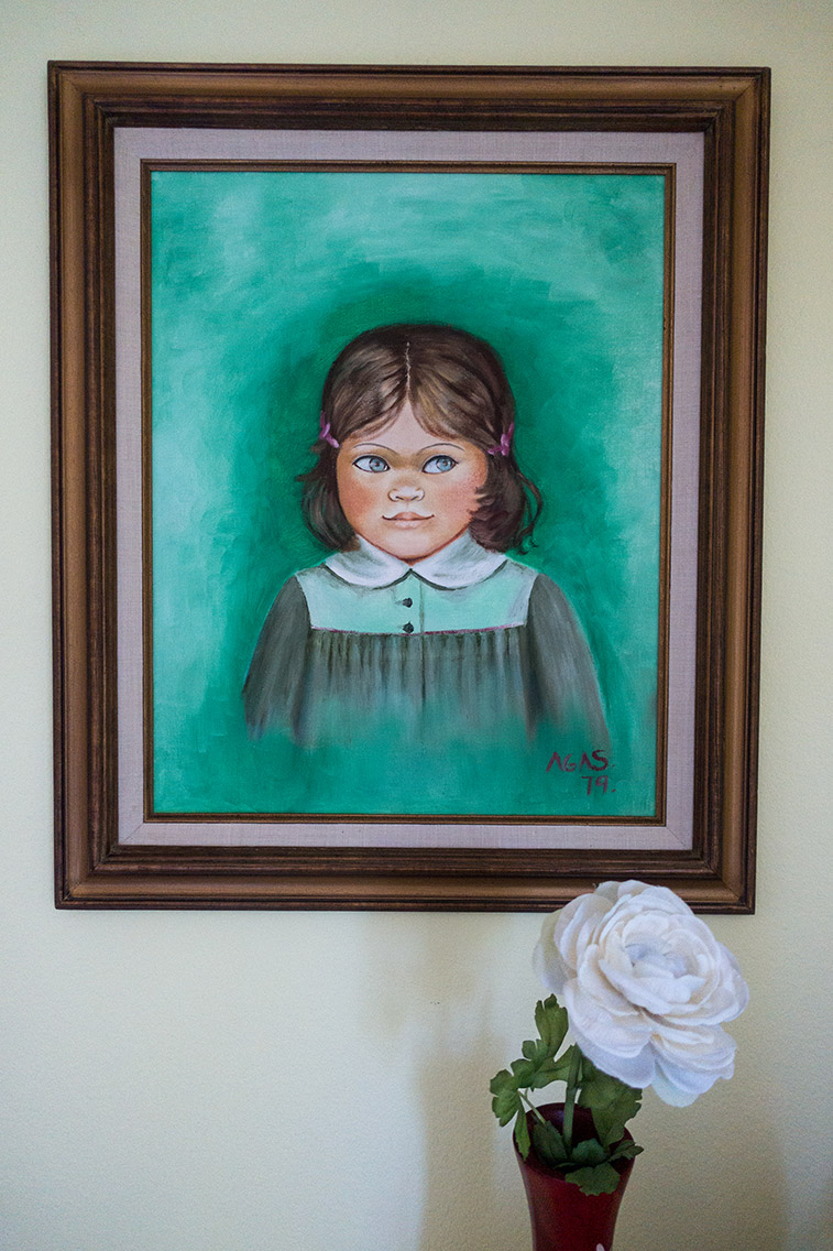 Painting of Myriam by her Abuelita, Santa Maria, California, 2019