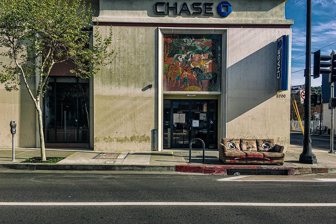 Bank and Sofa