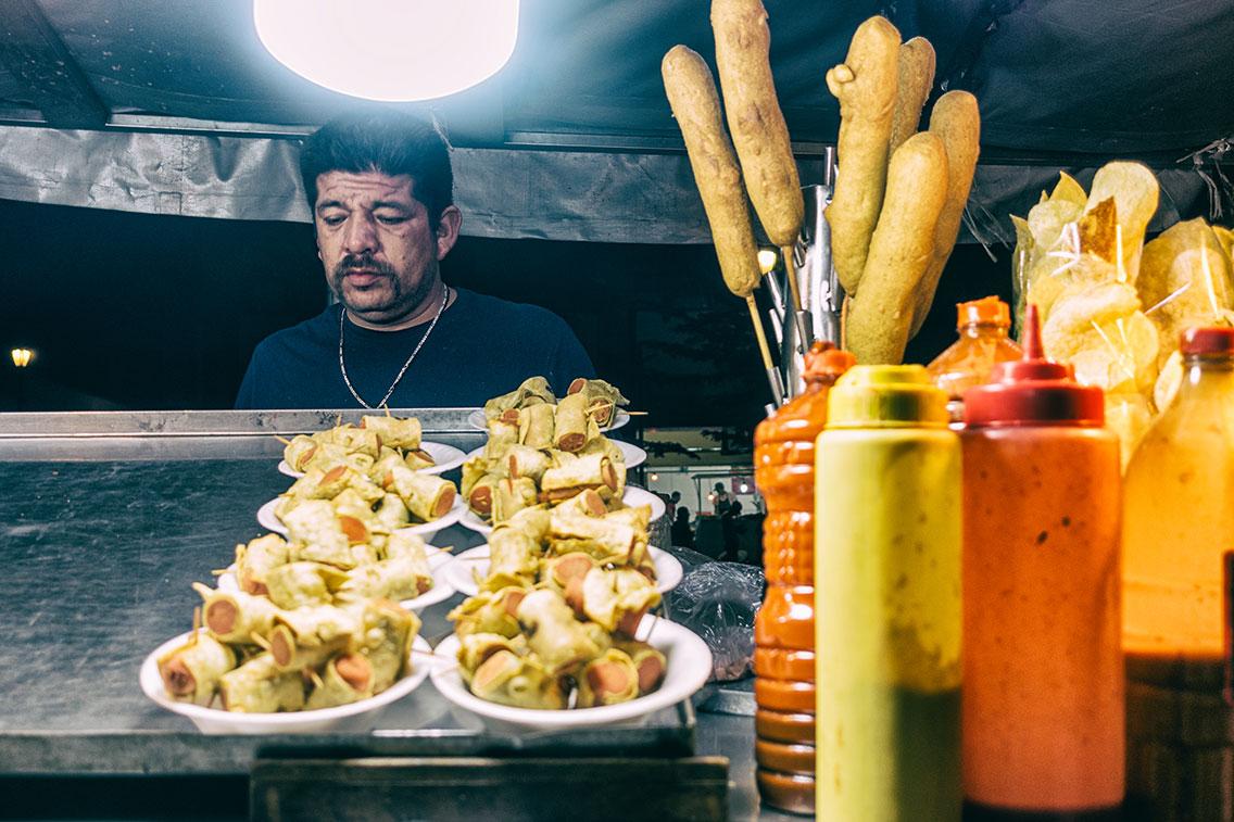Corn Dog Vendor, Zapopan, Mexico, Nov 2019